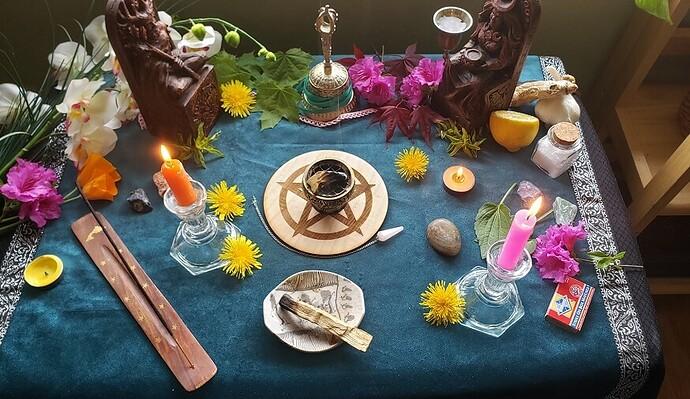 Beltane Altar decoration